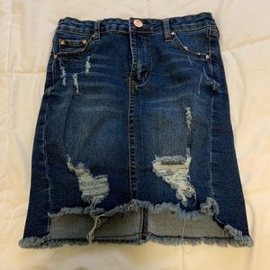 Fitting Distressed Skirt
